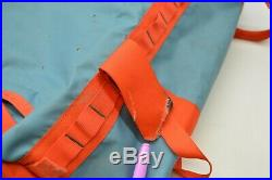 The North Face Base Camp Medium Blue/Orange Duffel WP Travel Suitcase Backpack