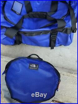 The North Face Basecamp Duffel Medium Packable Travel Bag Aztec Blue 71L