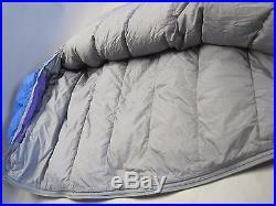 The North Face Blue Kazoo LG RH Goose Down Sleeping Bag VGC Backpacking Camping
