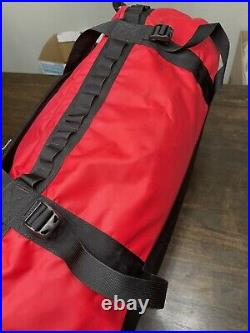 The North Face Duffel Packable Travel Suitcase Backpack Red Large Base Camp