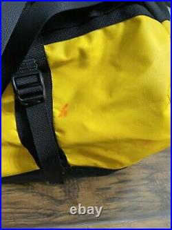 The North Face Duffel Packable Travel Suitcase Backpack Yellowithgold Base Camp