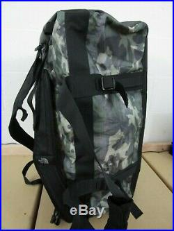 The North Face Golden State Duffel Packable Travel Suitcase Backpack Green Camo
