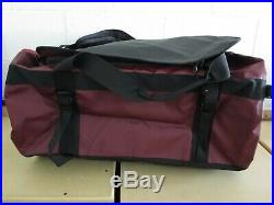 The North Face Golden State Duffel Packable Travel Suitcase Backpack Red / Black