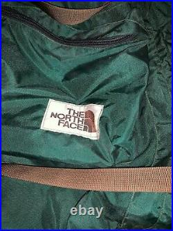 The North Face Internal Frame Hiking Backpack Vintage 80s Brown Label Canvas