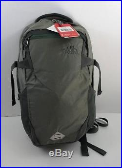 The North Face Iron Peak LAPTOP Backpack, Moon Mist Grey/Duck Green