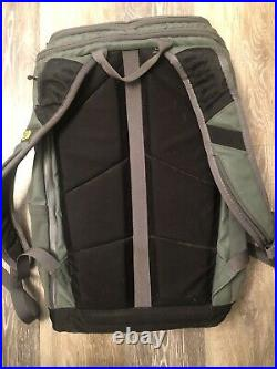 The North Face Kaban Charged Backpack Gray With Joey Charger EUC