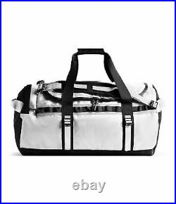 The North Face M Base Camp Duffel Packable Travel Suitcase Backpack White Black