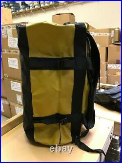The North Face M-L Golden State Duffel Packable Travel Suitcase Backpack Yellow