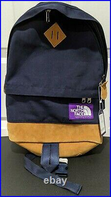 The North Face Medium Day Pack Purple Label Leather Backpack Dark Navy Color