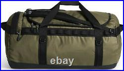 The North Face Mens Base Camp Duffel LARGE bag backpack -Burnt Olive/TNF Black