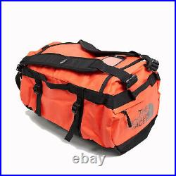 The North Face Mens Base Camp Duffel SMALL bag backpack Flare / TNF Black