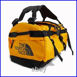 The North Face Mens Base Camp Duffel SMALL bag backpack Summit Gold / Black