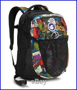 The North Face Recon Laptop Backpack 15 TNF Red Sticker Bomb Print/TNF Black
