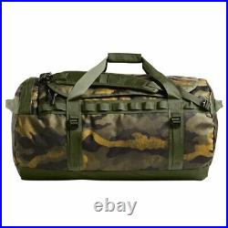 The North Face S-L Base Camp Duffel Packable Travel Suitcase Backpack Camo