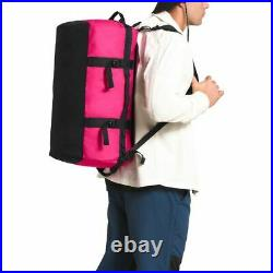 The North Face S-L Base Camp Duffel Packable Travel Suitcase Backpack Mr. Pink