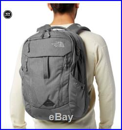 The North Face Surge 15 Backpack Heather Grey Gray Nwt New Fast Ship