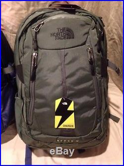 The North Face Surge II Charged Backpack His & Hers Deep Cobalt Blue/Oscar Green