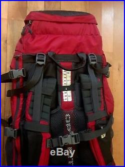 The North Face Terra 55 RED BackpackHiking Camping Big Kids Pack Travel