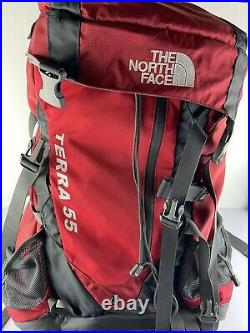 The North Face Terra 55L Internal Frame BackPack Hiking Trekking Pack MINT COND