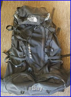 The North Face Terra 65 Backpack Hiking 65L Black size M/L Excellent Used