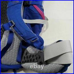 The North Face Womens Fovero 70L Hiking Bagpack Gray Color Block Pockets M/L New