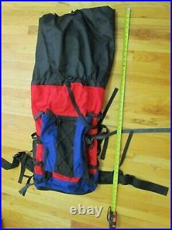 VINTAGE The North Face Patrol Pack STYLE Internal Frame Backpack Red/Blue/Black