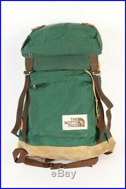 VTG THE NORTH FACE Canvas/Leather Internal Frame Backpack Daypack USA