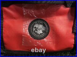 Vans x The North Face Base Camp Duffel Bag 50L Red Black NEW (2209-273)
