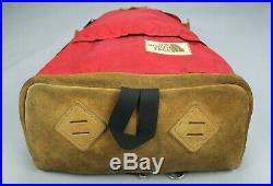 Vintage 1970's The North Face Leather Bottom Tear Drop Day Pack Backpack USA