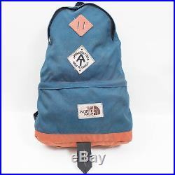 9372690c0 Vintage The North Face 70s 80s Blue Backpack with Brown Label ...