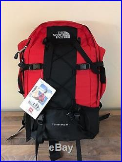 Vintage The North Face Tripper Backpack Hiking Camping Internal Frame Red NWT